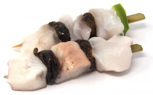 Monkfish Skewer and Prunes